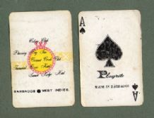 Collectible playing cards Advertising  Barbados hotels souvenir